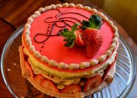 Strawberry Chocolate Mousse Genoise