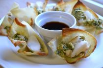 Whitefish; lemongrass/basil pesto in wontons