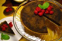 Bittersweet chocolate tart.
