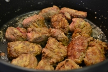 Always brown meat before adding to stew.