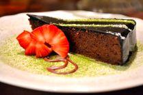Flourless Chocolate cake. Like a slice of pudding!