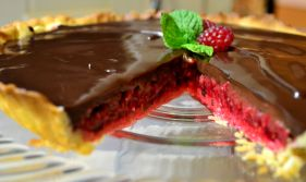 Raspberry Mint Tart