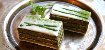 Green Tea Opera Cakes