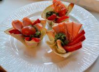 Salmon wontons