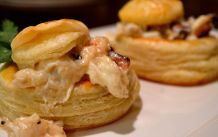 Vol au vent with crab