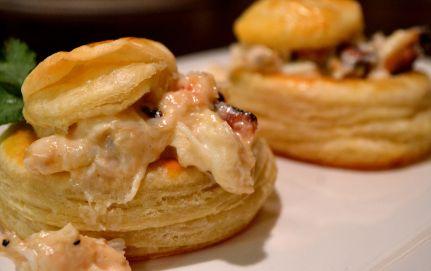 Vol au vent with crab